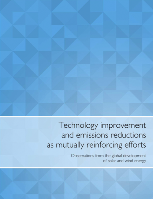 Technology improvement and emissions reductions as mutually reinforcing efforts