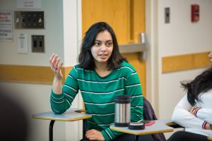Anupama Phatak, a junior mechanical engineering major and economics minor, details her team's winning strategy